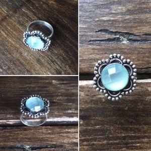 ⚡️Flash Sale⚡️Aqua Chalcedony Silver Rings